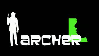 Silhouettes archer (tv) black background wallpaper