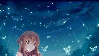 Sleeves sword art online butterflies yuuki asuna Wallpaper