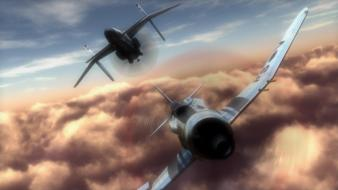 The sky crawlers aircraft artwork aviation clouds wallpaper