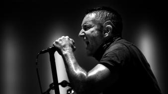 Trent reznor band black and white concert Wallpaper