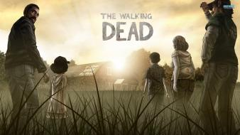Video games walking dead the posters screens wallpaper