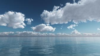 Water blue bright waterscapes skies wallpaper