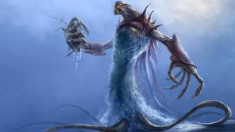 Water monsters fantasy art wallpaper