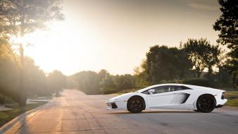 White lamborghini lp700 wallpaper