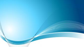Abstract blue vector wavy lines graphics wallpaper