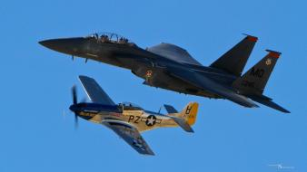 Aircraft p-51 f-15 eagle mustang wallpaper