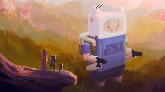 And jake artwork digital art paintings robots wallpaper