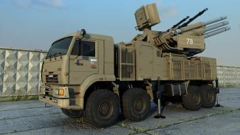 Anti-aircraft kamaz russian armed forces aa flak wallpaper