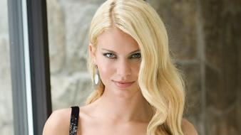 Blondes black dress angela classy marcello Wallpaper