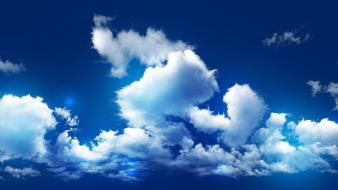 Blue clouds sky wallpaper