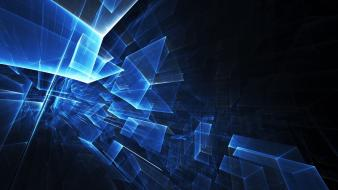 Blue squares abstract wallpaper