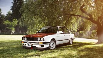Bmw e30 stance works landscapes white wallpaper