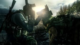 Call of duty ghosts dog and soldier dogs wallpaper