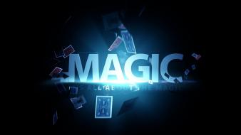 Cards typography magic wallpaper