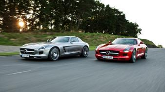 Cars 2010 sls amg sports car mercedes benz wallpaper