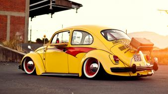 Cars bug slammed vw beetle wolksvagen Wallpaper