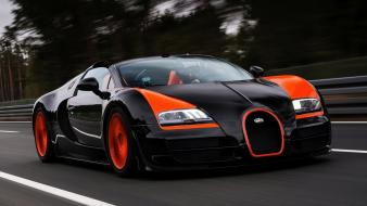Cars record grand races bugatti veyron sport supercar Wallpaper