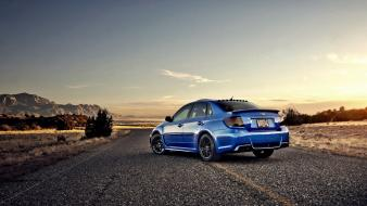 Cars subaru roads vehicles impreza wrx sti automobile wallpaper