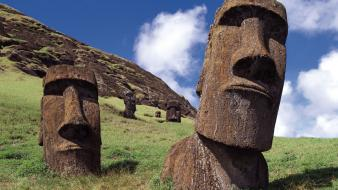 Chile easter island clouds islands landscapes Wallpaper