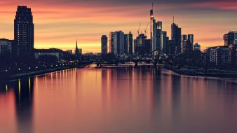 Cityscapes germany urban buildings europe frankfurt wallpaper