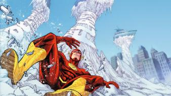 Dc comics flash comic hero cities sliding wallpaper