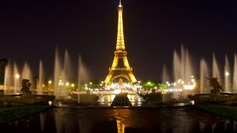 Eiffel tower paris night wallpaper