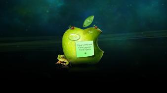 Green apple logo wallpaper
