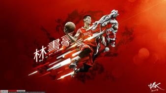 Houston rockets jeremy lin nba basketball player Wallpaper