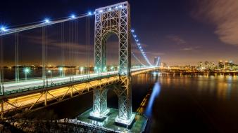 Hudson river new york city bridges cities wallpaper