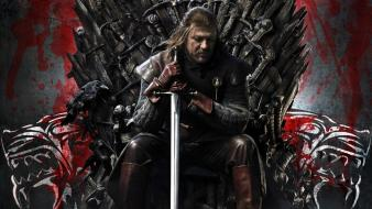 Ice and fire sean bean iron throne wallpaper