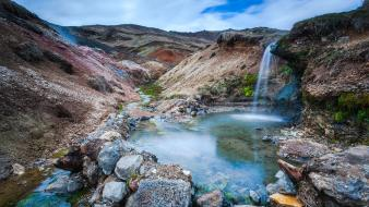 Landscapes nature iceland waterfalls wallpaper
