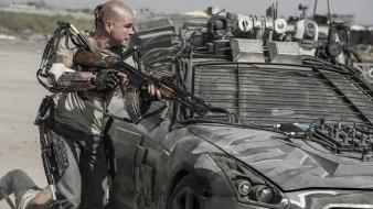 Matt damon nissan gtr elysium guns still wallpaper