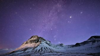 Mountains landscapes stars milky way night sky wallpaper