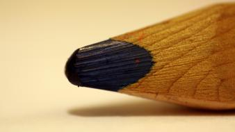 Pencil blue macro Wallpaper