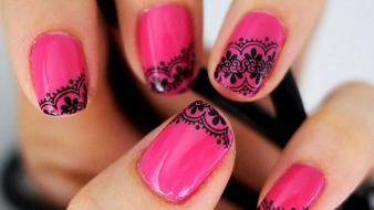 Pink nail designs wallpaper