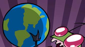 Robots invader zim earth gir wallpaper