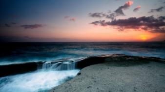 Seascape evening landscapes nature wallpaper
