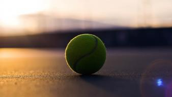 Tennis ball sunset wallpaper