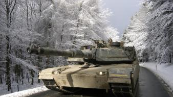 Winter army tanks wallpaper