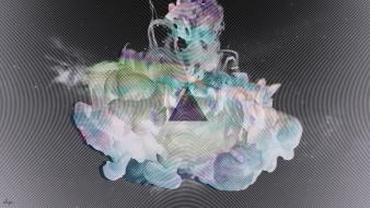 Abstract smoke psychedelic ink triangles wallpaper