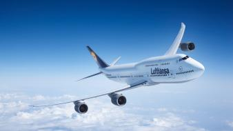 Aircraft flight boeing 747 lufthansa Wallpaper