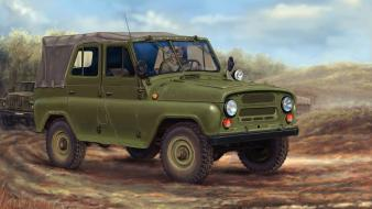 Artwork jeeps uaz ural russian army wallpaper