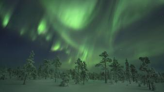 Aurora borealis nature skies winter wallpaper