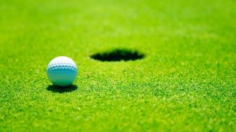 Backgrounds balls golf course grass wallpaper