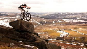 Bicycles landscapes nature sports wallpaper