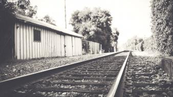 Black and white nature railroads wallpaper