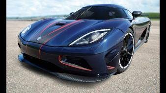 Blue koenigsegg agera r static wallpaper
