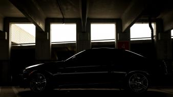 Bmw black cars shadows 3 series parking garage Wallpaper
