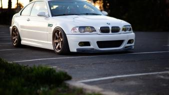 Bmw m3 e46 volk te37 rims wallpaper