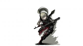 Boots long hair shotguns weapons armor rpg-7 wallpaper